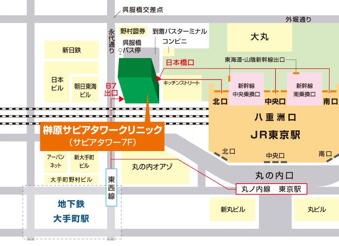 東京駅からのご案内